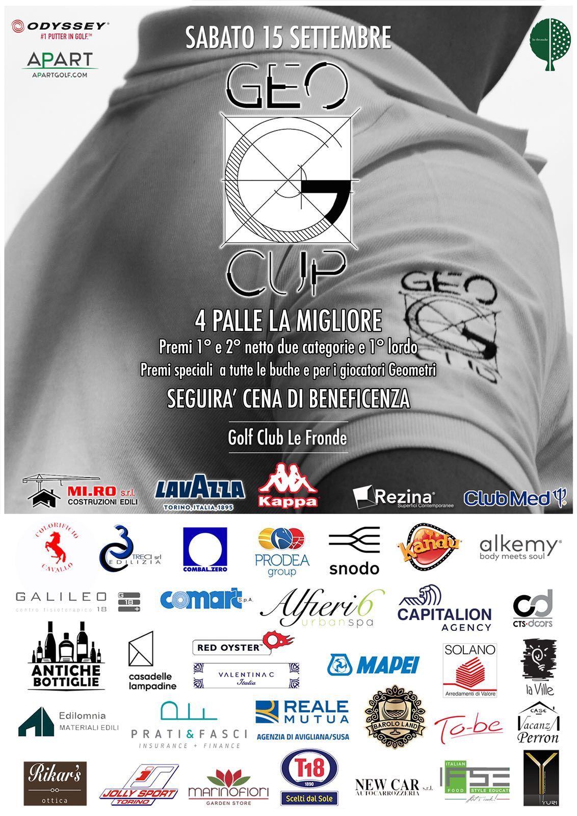 Sabato 15 settembre appuntamento con la Geocup, la competizione benefica con Valentina C protagonista tra gli sponsor